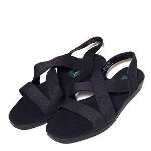 Grasshoppers Elastic Black Strappy Sandals